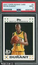 2007 Topps #2 Kevin Durant RC Rookie Supersonics PSA 9 MINT