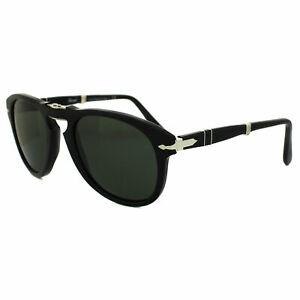 Persol Sunglasses 714 95/31 Black Green Folding Steve McQueen 52mm