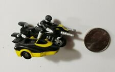 Vintage 1994 Bandai POWER RANGERS Mini Micro Black Motorcycle & Yellow Side Car