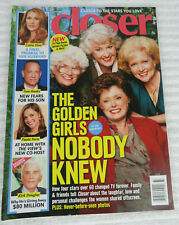 CLOSER MAGAZINE SEPTEMBER 14 2015 THE GOLDEN GIRLS CELINE DION TOM HANKS