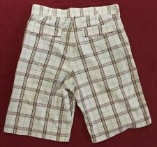 cd564c4e3c Ecko Unltd. White Plaid Shorts Mens size 30 100% Cotton (33.5x12