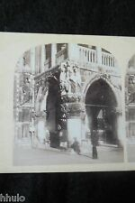 STA419 Venise Palais Ducal Italie ancien STEREO albumen Photography Stereoview