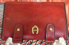 Vintage 1970's Aigner OXBLOOD Red Manicure Set
