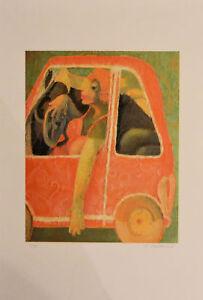 Giovanni MARANGHI in Auto litografia 60x40 firmata numerata