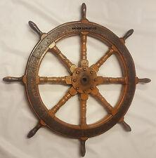 Large Antique / Vintage Ships Wheel - Solid Wood / Genuine not a Copy!