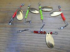 HAND CRAFTED IN OREGON 5 LURES SPINNERS FRENCH BLADES ASSORTMENT   #984