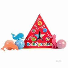 6X BATH SPRUDELS - KIDS BATH BOMB NON TOXIC NO STAINS CHILD FRIENDLY CUTE SPONGE