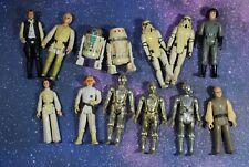 13 VINTAGE Star Wars ACTION FIGURES KENNER BEATER LOT Luke Skywalker R2-D2 R5-D4
