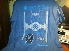 BRAND NEW STAR WARS TIE FIGHTER BLUE T SHIRT SIZE S
