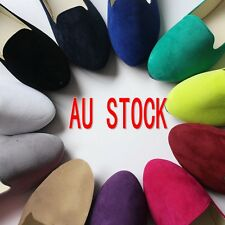 New Women's 10 colors Suede Ballet Flats AU 5-12 Casual Comfy Soft Slip On Shoes