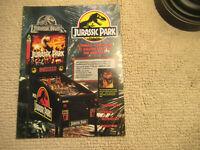 odd size 11- 8 3/8'' jurassic park  data east   pinball  ARCADE GAME FLYER
