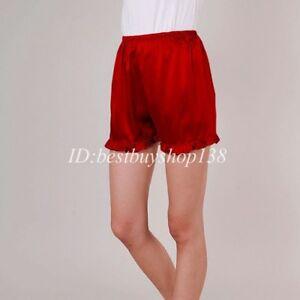 Women Anti-Static Slip Pettipants Satin Bloomers Panties Short Lingerie Shorts