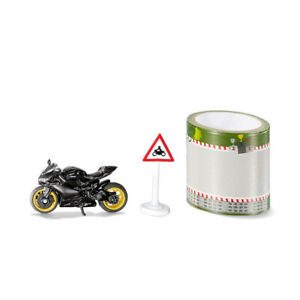 SIKU 1601 Ducati Panigale 1299 Black With Tape And Traffic Signs New !°