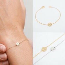 WOMEN MEN SIMPLE 26 LETTERS BRACELET BANGLE CHAIN PARTY COCKTAIL JEWELRY NICE