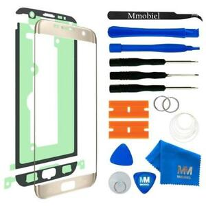 Front Display Glas für Samsung Galaxy S7 Edge G935 (GOLD) + Werkzeug