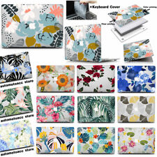 Colorful Flower Clear Case Cover For Macbook Pro Air 11 12 13 15 16 inch Laptop