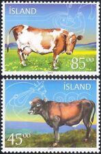 Iceland 2003 Cattle/Domestic Animals/Nature/Farming/Bull/Cow/Mythology 2v is1034