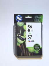 HP 56 57 Combo Black & Color Combo Ink Cartridges NEW GENUINE