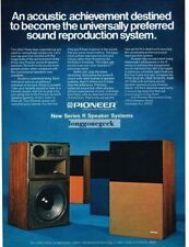 1972 Pioneer Series R Speaker System Stereo Hi-Fi Vtg Print Ad