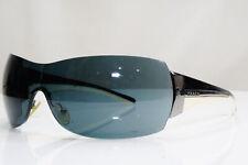 PRADA Mens Womens Designer Sunglasses Black Shield WHITE SPR R54G 76I-1A1 26636