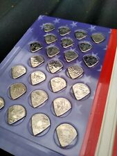 Full set of 50 US state quarter dollar Coin picks Plectrums guitar bass