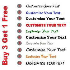 Personalised Custom Text Lettering Sticker x2 For Car Van Window Shop Decal
