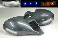 Dodge Ram 94-01 M3 Carbon Fiber LED Front Power Door Side Mirrors Pair RH LH