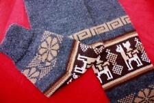 Bolivian Fair Isle geometric Winter  Leg Warmers Knitted Socks knee  (ONE SIZE)