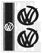 VW TRANSPORTER T5 T6 T4 CADDY VAN BONNET STRIPE LOGO SET STICKER VINYL CARAVELLE