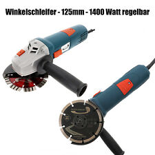 PRODIAMANT Profi Winkelschleifer WS-1400-125 Ø125mm 1400 Watt regelbar Kraftvoll