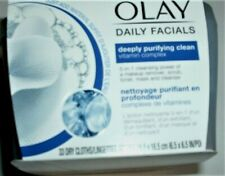 66 OLAY Daily Facials  Dry Cloths Deeply Purifying Clean, Vitamin Complex 2 TUBS