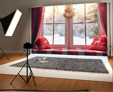 10x6.5Ft Backdrop Winter Bay Window Background Photography Props Scene