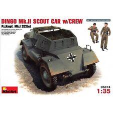 Miniart 35074 Dingo Mk. II Scout Car con tripulación Pz. kmpf. Mk. I 202 (e) escala 1/35