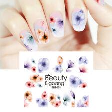 BeautyBigBang Nail Art Pegatinas Decoración Calcomanías Efecto De Agua Flores