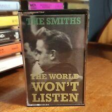 THE SMITHS - THE WORLD WON'T LISTEN - MORRISSEY MARR ROUGH TRADE - CASSETTE TAPE