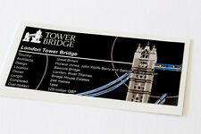 Lego Creator UCS Sticker for London Tower Bridge 10214