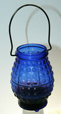 Rare Blue 1890 Lantern Chicago Candle Co Victorian Fairy Light Christmas Lamp