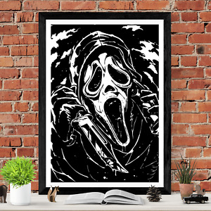 Scream Ghostface Horror Movie Poster Print Wes Craven