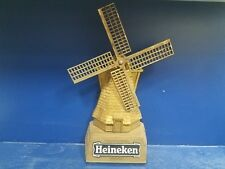"Vintage Nos Heineken Beer Windmill 3-D Bar Sign 20"" Tall"