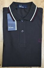 Fred Perry ~ XS ~ BNWT liquorice, M3600, twin tipped, short sleeve polo shirt
