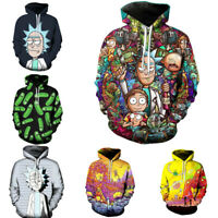 Rick and Morty Hoodie 3D Print Pullover Sweatshirt Zipper Hooded Casual Jacket