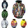 Rick and Morty Hoodie 3D Print Pullover Sweatshirt Zipper Hooded Casual Jacket
