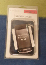 Xentris Samsung Solstice A887 Cell Phone Silicone Cover Black New