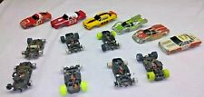 Vintage HO SLOT CAR Lot TYCO AFX Bodies & Chassis Camaro Z28 Chevelle Stocker
