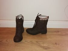 Ladies Girls  Size 3 Rocket Dog Thunder Brown Ankle Boots Size: 3 Brand New