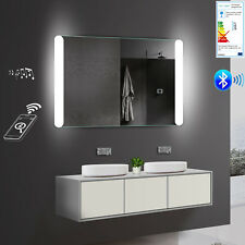 Design LED Kalt Warm weiß licht Wand Hänge Bad spiegel  Bluetooth 120 x 81 cm