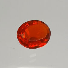 9.90x7.60mm OVAL FACETED GENUINE MEXICAN FIRE OPAL AAA GRADE LOOSE GEMSTONE