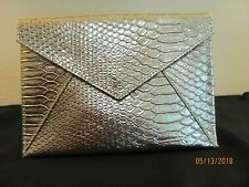 SKINN COSMETICS GOLD METALLIC  ENVELOPE WITH SNAP CLOSURE-NEW