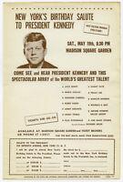 MARILYN MONROE Judy Garland 1962 PRES JOHN F KENNEDY BIRTHDAY Concert Handbill
