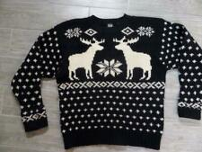 vintage GAP wool REINDEER norwegian sweater LARGE knit